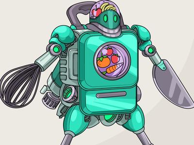 Character Design: Kitchenware Warriors! video games gaming heroes 3d models character design