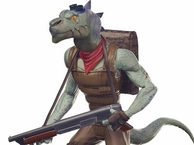 "Character Design: ""Artek"" Dino Hunter video games gaming heroes 3d models character design"