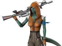 "Character Design: ""Lyra"" (Sniper Class)"
