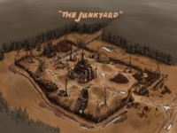 "Game Concept Art: ""The Junkyard"""