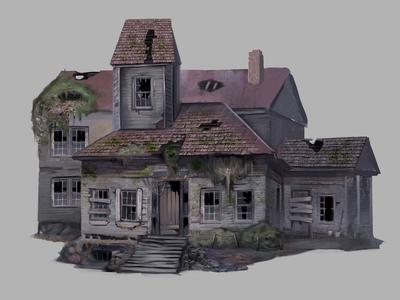 Game Concept Art: The Caretaker's Mansion