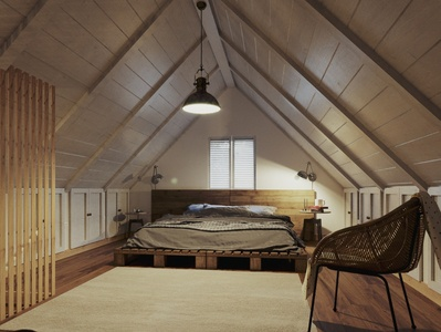 Home Restoration: Dream Home Loft Attic Renders