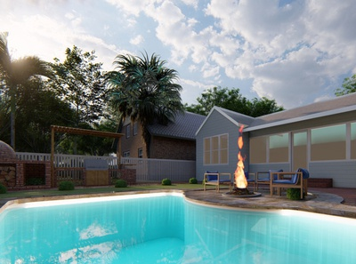 Outdoor Life: Home Patio/Pool Render