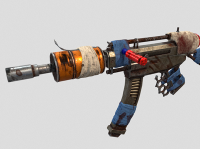 """""""Trasher"""" Post Apocalyptic Crafted Machine Gun"""