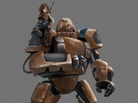 Character Design: Willow & Bot Concept