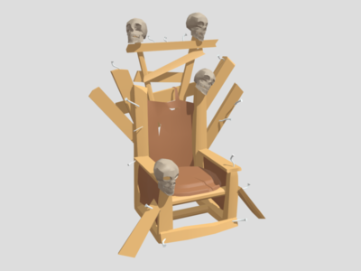 Low Poly Model: Tribe Leader Chair