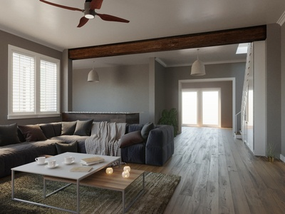 Home Restoration: 3D Render-Post Renovation Decorating
