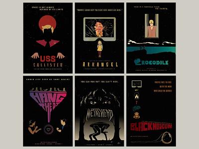 Black Mirror Season 4 Minimalist Posters poster minimalist netflix season4 blackmirror