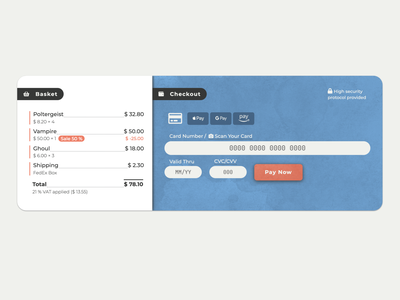 Credit Card Checkout responsive javascript css html 5 prototype dizen webdesign ui dailyuichallenge