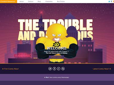New Trouble Website website trouble illustration