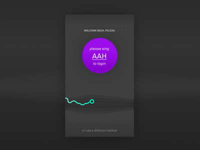 Daily UI 001 — Please sing 'AAH' to login app coach singin personal login ui daily