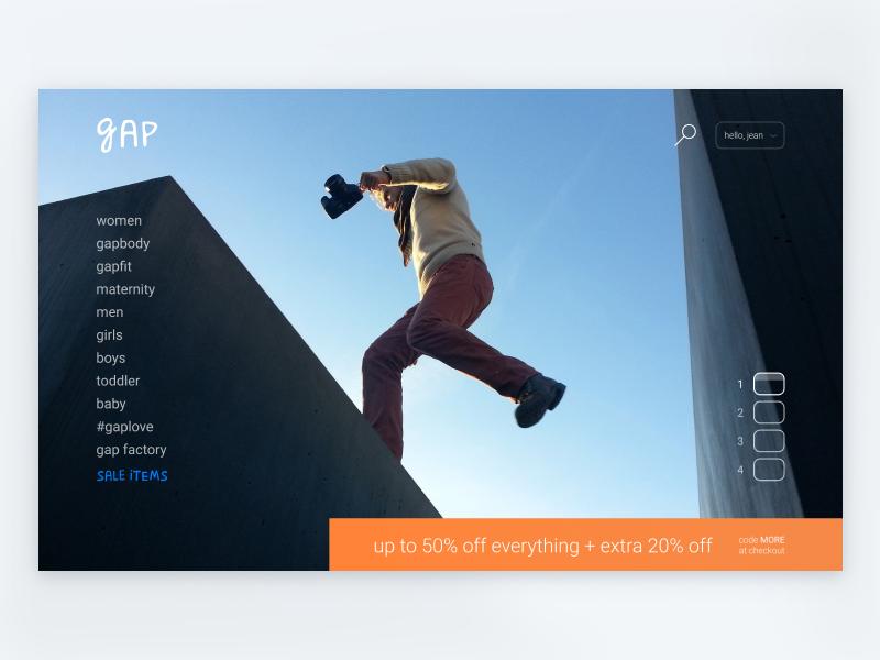 Daily UI 003 — Landing Page gap page landing ui daily