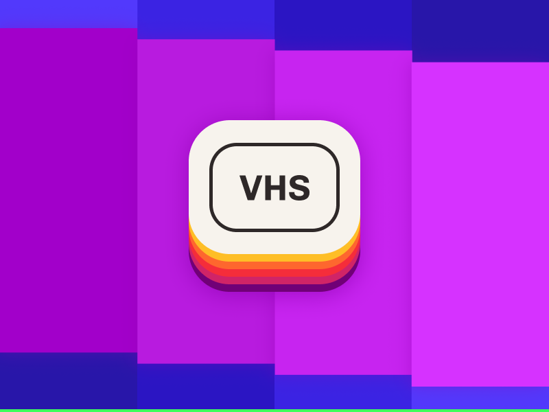 Daily UI 005 — App icon vhs 5 ui daily icon app