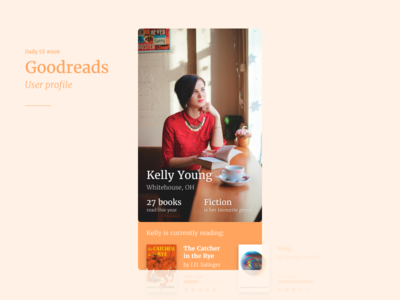 Daily UI 006 — Goodreads User Profile
