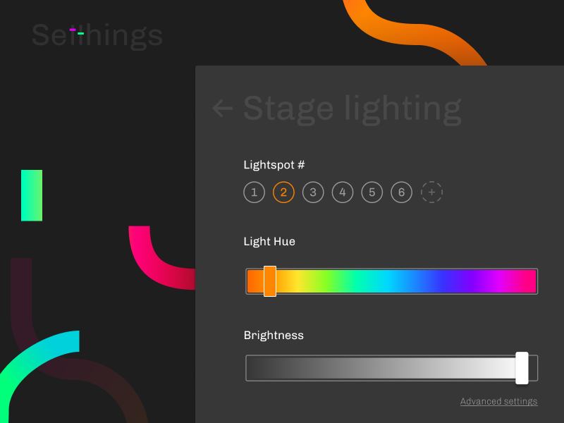 Daily UI 007 — Stage lighting control settings slider ui daily