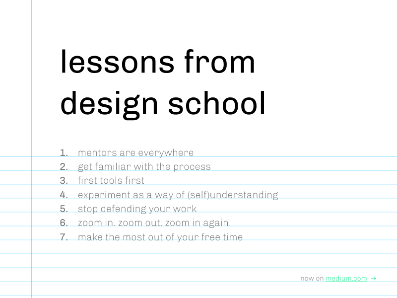 Lessons from design school notebook thoughts education design