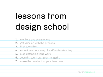 Lessons from design school