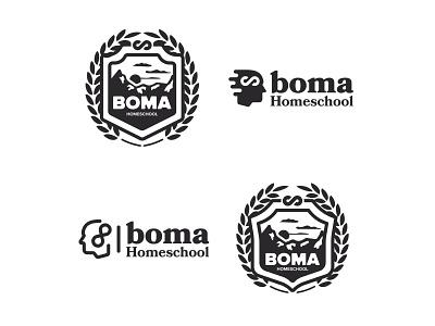 Boma Homeschool Academy typography branding illustration desiner homeschool logodesign logos logo design