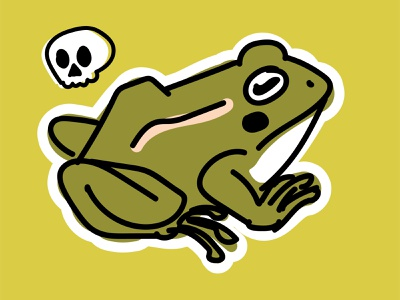 Frog sticker stickers sticker frog frogs illustration art illustraion illustrator