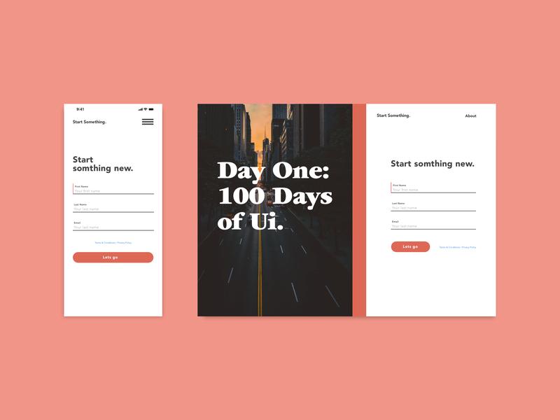 Daily Ui: #001 — Sign up design web ui ui 100day ui 100