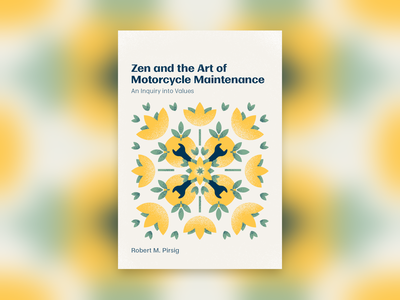 Zen and the Art of Motorcycle Maintenance book illustration vector design book cover book jacket bookjacket book illustration