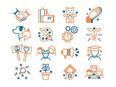 Icons Set WIP badge web illustrator vector ui icon design icons icon design