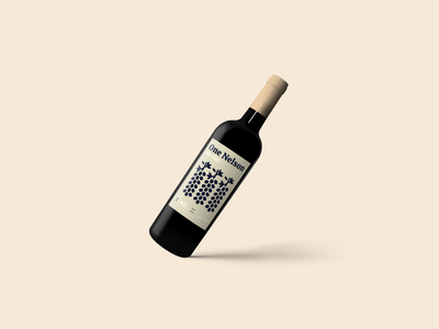 One Nelson - Son Ray indentity branding concept branding design branding labels label design merlot wine label winery wine