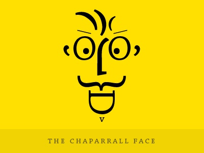 The Chaparral Face typography font type face emotion emoticon smile punctuation yellow bright contrast colour expression man male mean flat
