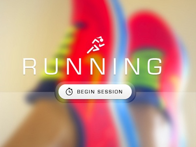 Running Design Concept blurred photography neon bright nike trainers running run jog fitness stopwatch typography type font din icon symbol