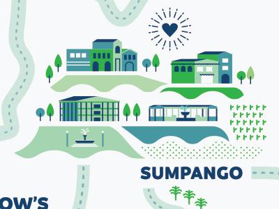 Sumpango Villages poster sumpango guatemala illustration map