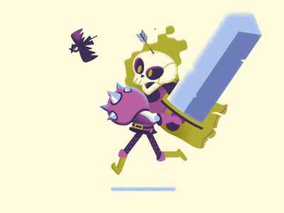 Warrior Skeleton motion graphic noise skeletons sword fire animation running character run character cycle run skeleton shape layers motion character animation after effects illustration loop character 2d gif animation