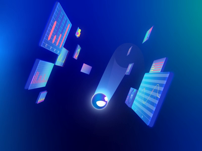 Flying ball abstract colors shape layers explainer gradient 3d art tigran pigeon illustration 3d animation after effects 3d character 2d gif animation