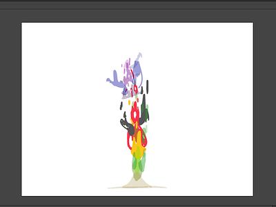 Liquid Stuff color design illustration rotate rocket c4d liquid splash framebyframe car animation