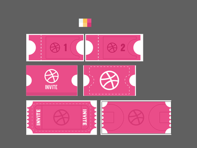 Liquid invite white pink colors design animate 2d animation frame by frame cel invite liquid tickets