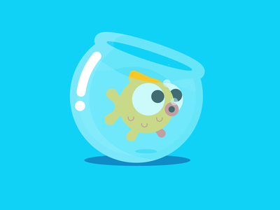 Fish ux vector ui liquid motion design colors cycle fish motion character animation after effects shape layers flat illustration loop design character 2d gif animation