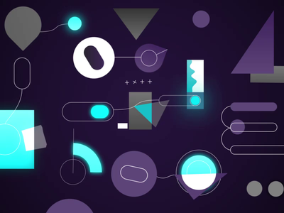 Mess around motion design logo panic 3d animation creative illustration motion gradient glow flat making of rubiks cube 3d c4d after effects loop character 2d gif animation
