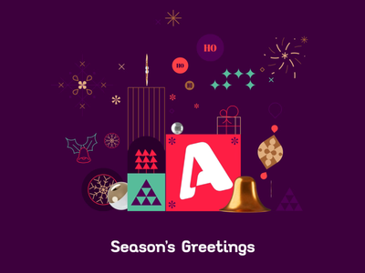 Alpha TV IDENT c4d flat 3d abstract illustrator adobe 2d animation tv ident christmas ident motion design vector branding shape layers after effects logo loop character 2d gif animation