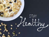 Food Typography for Nestle - Stay Healthy