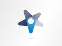 Unselected Star Pin Logo