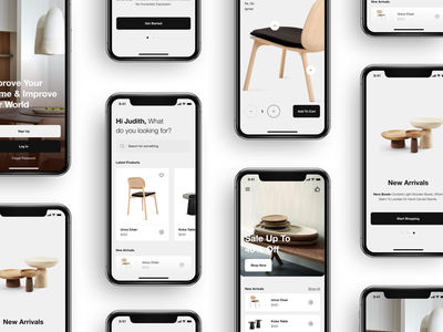 Furniture IOS App onlinestore store furniture app iosapp app ios details concept minimal clean layout ux ui