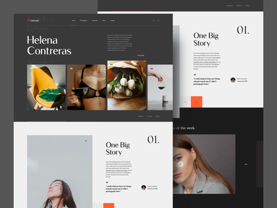 101cøncept Website photography stories woman dark ui interface web design landing interaction website concept colors clean web design layout ux ui