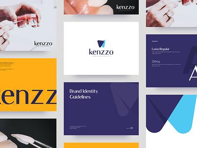 Kenzzo Logotype Rebrand dental clinic icon dentist symbol mark vector visual identity logodesign luxia typography rebrand brand identity branding logotype logo