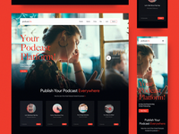 podcast.fm Website communication dialogs storytelling music podcasts podcast modern interaction website concept minimal web design layout ux ui