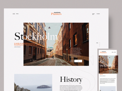 St. Planners Website urban planning city stockholm web design user interface mobile ui mobile responsive interface interaction website details concept minimal clean web design layout ux ui