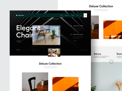 Dezgn.place Webiste interior chairs online shop shop furniture web design interface modern interaction website details concept minimal web design layout ux ui