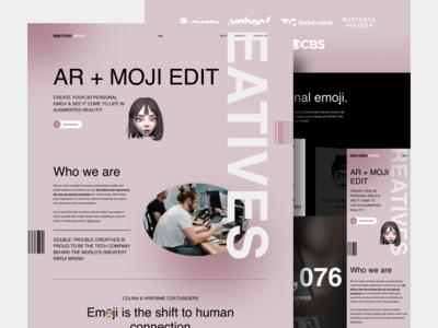 DTC Website Redesign Concept responsive design mobile interaction design typography edit emoji homepage interface interaction website details colors concept clean web design layout ux ui