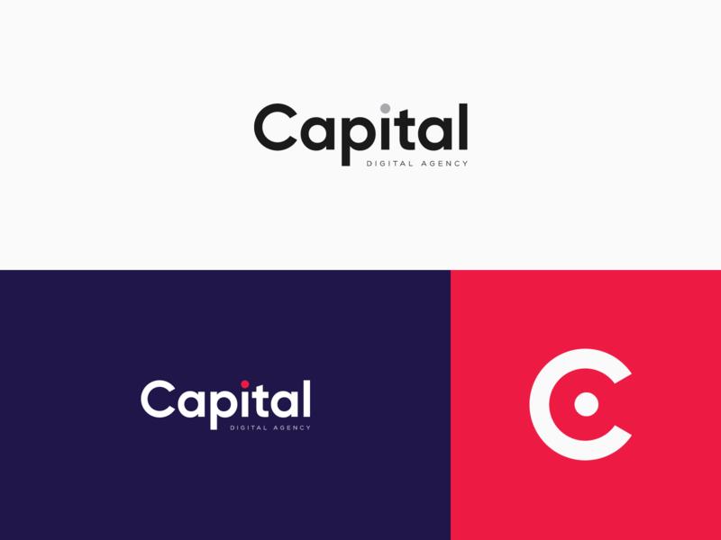 CAPITAL Digital Agency Logotype colors gilroy vector typography concept clean digital agency agency visual design visual language branding logotype logo design logo