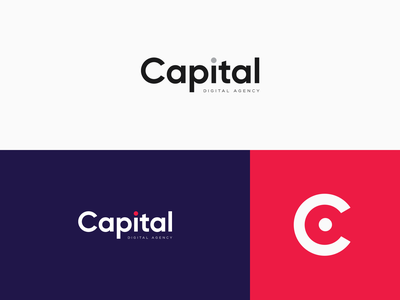 CAPITAL Digital Agency Logotype colors gilroy vector typography concept clean digital agency agency visual design visual language branding logotype logo design logo