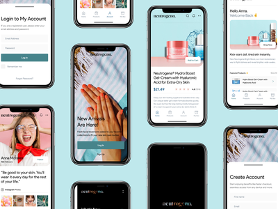 Neutrogena UI Concept onlinestore products iphone ios photography app exploration logotype iosapp skin skincare neutrogena beauty colors concept minimal clean layout ux ui