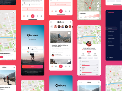 Above IOS App tracking garmin strava interface design swimming running hiking iphone interface ios app interaction details colors concept design layout ux ui